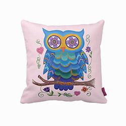 Beauty Crafts BCPL240 Baykuş Dekoratif Yastık - 43x43 cm