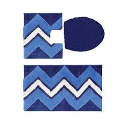 Confetti Aztek Simli 3'lü Klozet Takımı - Gece Mavisi