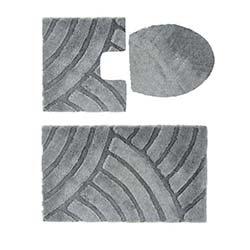 Confetti Karya Simli 3'lü Klozet Takımı - Platin