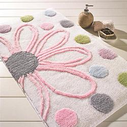 Confetti Alinda Banyo Halısı (Karbeyaz) - 55x60 cm
