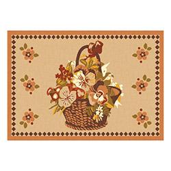 Confetti Mersin Bukle Dekoratif Halı (Kızıl Kahve) - 57x90 cm