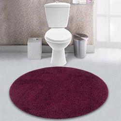Confetti Firuze Banyo Paspası (Mor) - 90x90 cm