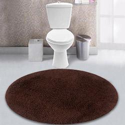 Confetti Firuze Banyo Paspası (Kahverengi) - 90x90 cm