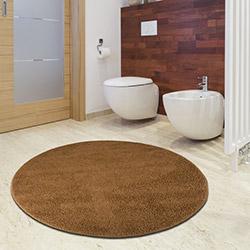 Confetti Firuze Banyo Halısı (Sütlü Kahve) - 100x100 cm
