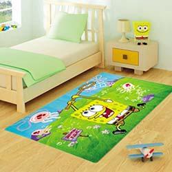 Confetti Sponge Bob Jfish Bukle Çocuk Halısı Yeşil - 133x190 cm