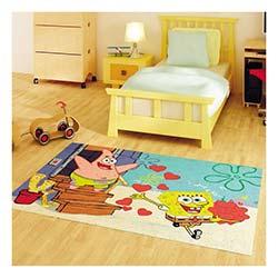 Confetti Sponge Bob Fship Bukle Çocuk Halısı Turkuaz - 133x190 cm