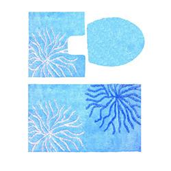 Confetti Myra Simli 3'lü Klozet Takımı - Pastel Mavi