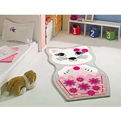 Confetti Kitty Çocuk Halısı Pembe - 80x150 cm