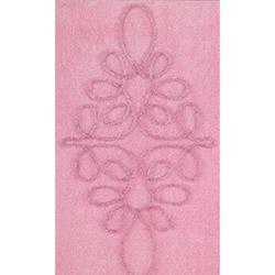 Confetti Lissa Simli Banyo Halısı Pastel Pembe - 70x120 cm