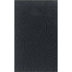Confetti Alara Simli Banyo Halısı Siyah - 70x120 cm