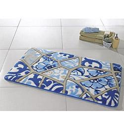 Confetti Vitray Banyo Halısı Mavi - 55x57 cm