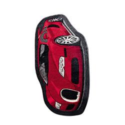 Confetti Car Çocuk Halısı Kırmızı - 100x160 cm