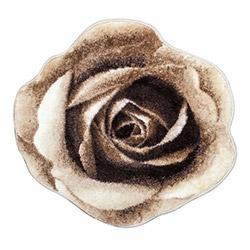 Confetti Rose Banyo Halısı (Kahve) - 67x67 cm