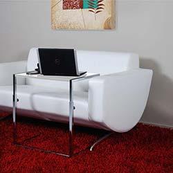 Eva Concetto Bianca Dekoratif Laptop Sehpası - Beyaz