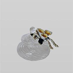 Ctf Capodimonte Çiçek Şeffaf Mücevher Kutusu