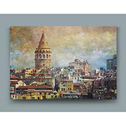 Tasarım Atölyesi OSM11057  Bir Zamanlar Galata Kulesi Desenli Kanvas Tablo - 40x60 cm