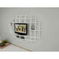 Modern Elips Tv Ünitesi - Beyaz