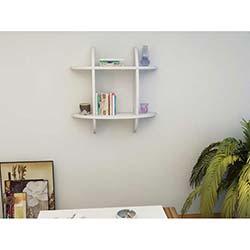Elips Mini Modern Kitaplık - Beyaz