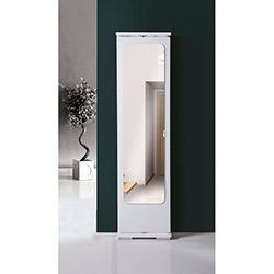 Dizayn Aynalı Portmanto - Parlak Beyaz