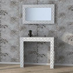 Demre Aynalı Dresuar Seti  - Beyaz