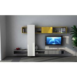 Fark Tv Ünitesi - Parlak Beyaz / Koyu Sarı