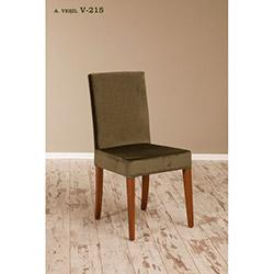 Helen V-215 Sandalye - Ceviz / Yeşil