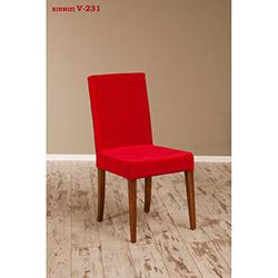 Helen V-231 Sandalye - Ceviz / Kırmızı