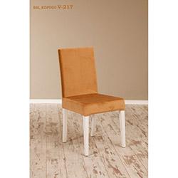 Helen V-217 Sandalye - Beyaz / Bal Köpüğü