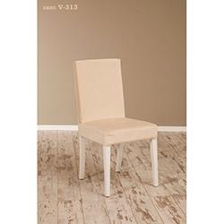 Helen V-313 Sandalye - Beyaz / Ekru