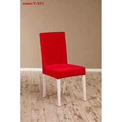 Helen V-231 Sandalye - Beyaz / Kırmızı