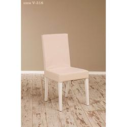 Helen V-318 Sandalye - Beyaz / Krem
