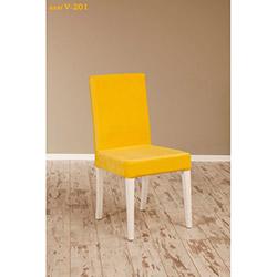 Helen V-201 Sandalye - Beyaz / Sarı