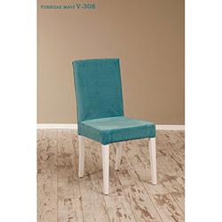 Helen V-308 Sandalye - Beyaz / Turkuaz
