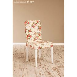 Helen D-417 Sandalye - Beyaz / Bahar Mercan