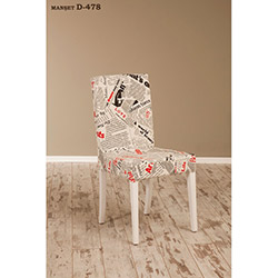 Helen D-478 Sandalye - Beyaz / Manşet