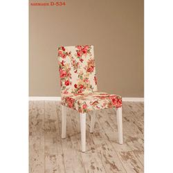 Helen D-534 Sandalye - Beyaz / Sarmaşık