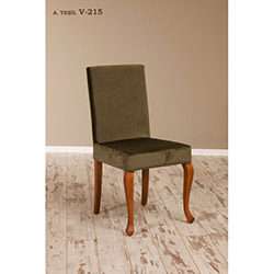 Simay V-215 Sandalye - Ceviz / Yeşil