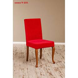 Simay V-231 Sandalye - Ceviz / Kırmızı