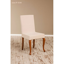 Simay V-316 Sandalye - Ceviz / Krem (düz zemin)