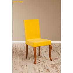 Simay V-201 Sandalye - Ceviz / Sarı
