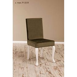 Simay V-215 Sandalye - Beyaz / Yeşil