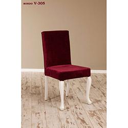 Simay V-305 Sandalye - Beyaz / Bordo
