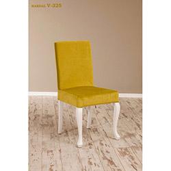 Simay V-325 Sandalye - Beyaz / Hardal