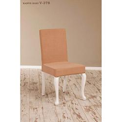 Simay V-378 Sandalye - Beyaz / Kahve Haki