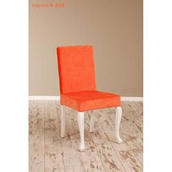 Simay V-329 Sandalye - Beyaz / Turuncu