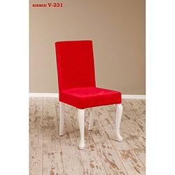 Simay V-231 Sandalye - Beyaz / Kırmızı