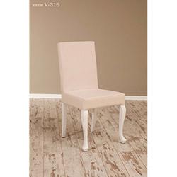 Simay V-316 Sandalye - Beyaz / Krem