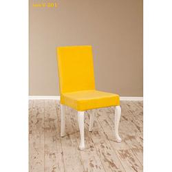 Simay V-201 Sandalye - Beyaz / Sarı