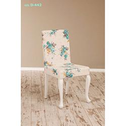 Simay D-442 Sandalye - Beyaz / Gül