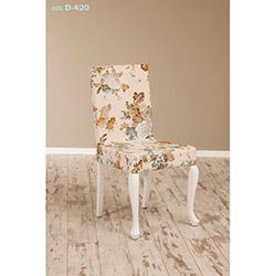 Simay D-420 Sandalye - Beyaz / Gül